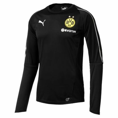 Puma Football Borussia Dortmund BVB Kids Long Sleeve Training Jersey Shirt Black