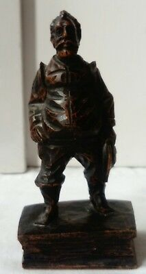 Black Forest Figure Austrian Limewood Figure Of A Bearded Man, Early Antique Vgc