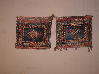 Wonderful Pair Of Antique Kurdish Complete Bags ****hg***