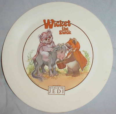 Vintage WICKET the EWOK RETURN of the JEDI Deka Collector Plastic Plate 1983