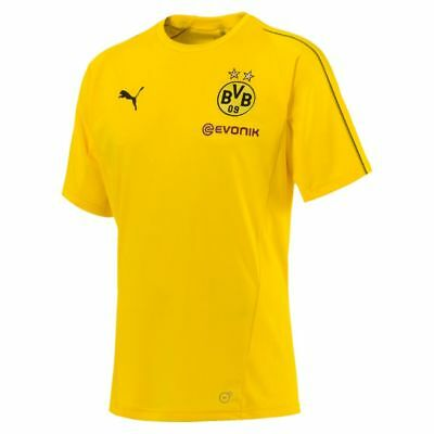 Puma Football Borussia Dortmund BVB Mens Training Short Sleeve SS Jersey Shirt
