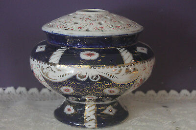 English Make Rare Flower Vase With Frog Imari  Pattern Dated 18/11/1918