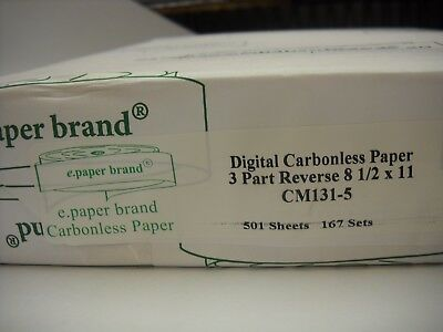 Digital 3 Part Carbonless Paper  NCR Reverse Pre-Collated  8.5 x 11 501 sheets