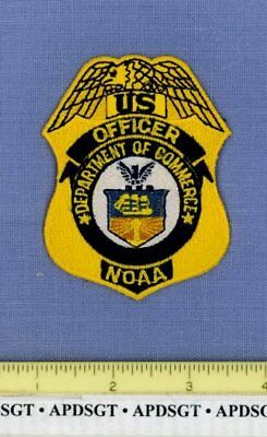 """DEPARTMENT of COMMERCE NOAA OFFICER WASHINGTON DC Police Patch LIGHTHOUSE 3.25"""""""