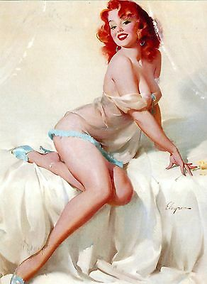 Post Card Of A Vintage Pin Up Girl By Gil Elvgren