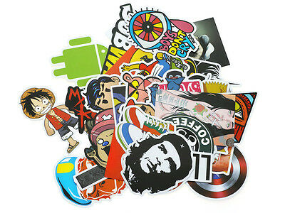 Deko Vinyl Sticker Aufkleber Set mit diversen Comic, Brands, etc. Motiven