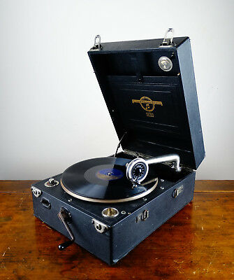 Antique Gramophone Columbia 109 Viva Tonal Grafonola Wind Up 78rpm Record Player