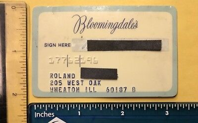 Bloomingdales Department Store 1970's Vintage Collectors Credit Card