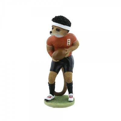 Country Artists Magnificent Meerkats Eddie Meerkat Rugby Figurine BNIB CA04528