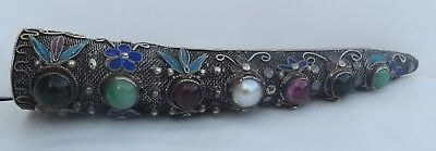 Superb Antique Chinese Export Silver Filigree Nail-Guard