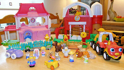 Fisher Price Little People farm, house, tractor, figurines bundle :)
