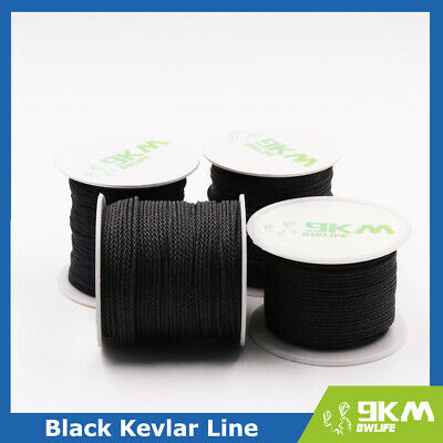 Black Braided Kevlar Line High Strength Outdoor Cords Camping Tactical Fishing