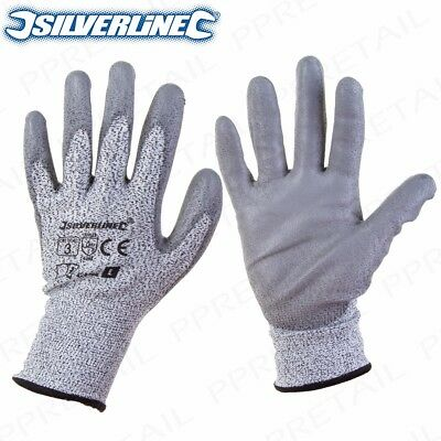 HEAVY DUTY CUT RESISTANT GLOVES Work Safety MADE WITH KEVLAR Tear/Puncture Proof