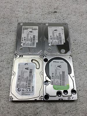 "Lot of 4 2TB 2000 GB 3.5"" Mixed Brand SATA Desktop Hard Drives HDDs Working"