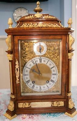 Lenzkirch  Walnut & Ormolo Mounted Ting Tang Bracket Clock serviced & Overhauled