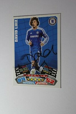 David Luiz (Chelsea) Signed Trading Card
