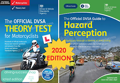 DVSA Motorbike/Motorcycle Theory Test DVD-ROM and 2019 Hazard Perception DVD-ROM