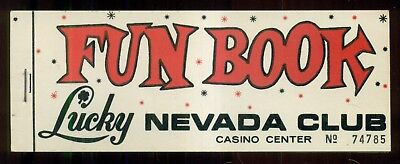 1967 Las Vegas,NV - Lucky Nevada Club Coupon Booklet