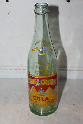 1939 Royal Crown Cola Acl Bottle Star RC Neck Good Housekeeping Rare Nehi