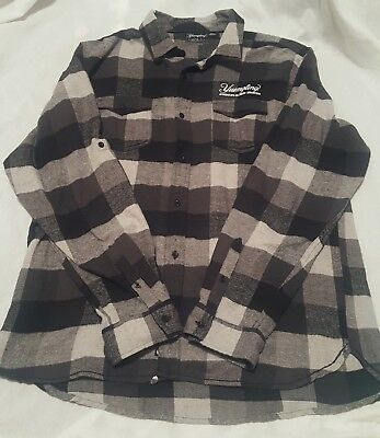 2XL Official Yuengling Brewery thick Flannel Plaid Embroidered shirt Beer XXL