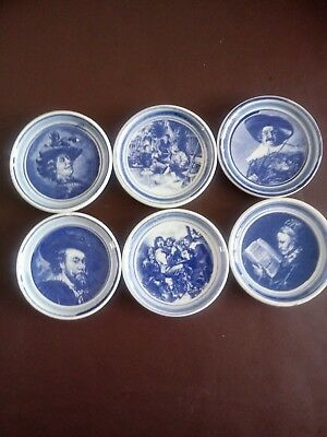 Vintage Delft Blue & White set of 6 Pin Dishes