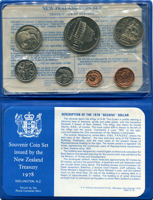 New Zealand: 1978 UNCIRCULATED set, with Beehive $1, Cat US$ 32.50 = A$45