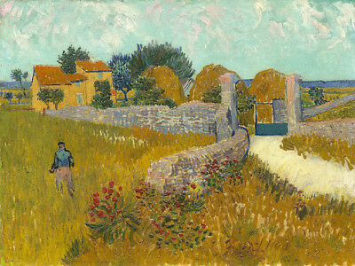 """Vincent Van Gogh Oil painting on canvas wall decor Farmhouse in Provence 28x28"""""""