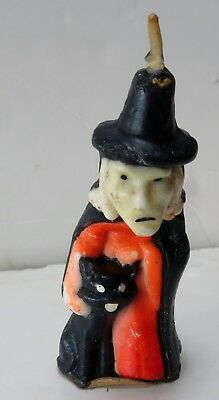 Gurley Witch with black cat Halloween candle