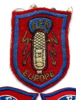 Vintage ARMED FORCES NETWORK EUROPE Gold Bullion THEATER MD PATCH ** 2-FREE!