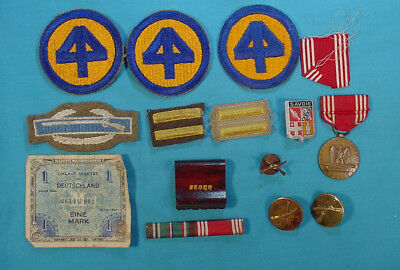 Wwii Us Army 44Th Infantry Division Combat Infantry Badge & Medal Group