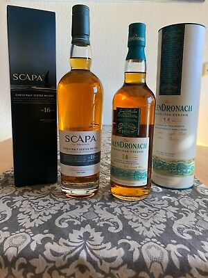 "Scapa ""The Orcadian"" 16yo & Glendronach ""Virgin Oak"" 14yo"