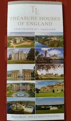 TREASURE HOUSES OF ENGLAND 2 For 1 Voucher NOT LEEDS CASTLE (Christmas Abbey)