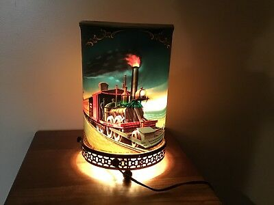 Vintage 1956 Econolite Railroad Locomotive Motion Spinning Table Lamp