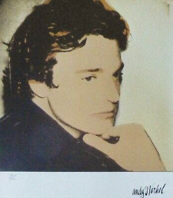 de889e7e5c ANDY WARHOL Portrait of Jamie Wyeth TYP A SIGNED HAND NUMBERED LITHOGRAPH