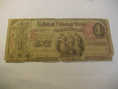 1865 Original Series $1 National Currency Banknote Charter 1339 Providence Ri