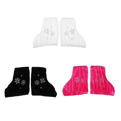 2pcs Velvet Ice Skate Boot Covers Protector for Figure Ice Skating Accessary