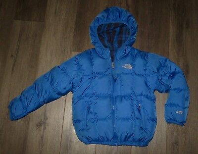 e4e04e471 BOYS THE NORTH FACE Reversible Moondoggy 550 Down Puffer Winter Jacket Coat  XS 6