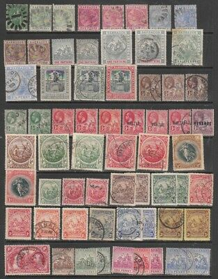 BARBADOS 1870s - 1960s  MINT HINGED / USED VARIOUS W/MKS ETC   2 PAGES  GOOD CV