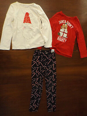 Lot of Toddler Girls 5T Christmas Mix/Match Outfit- EUC