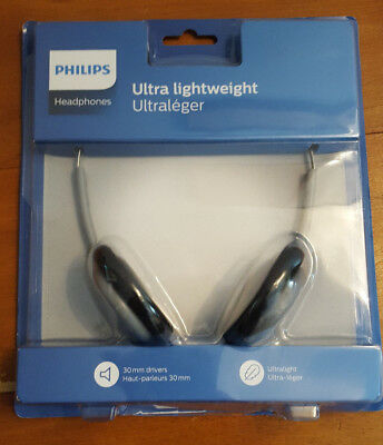 Phillips Ultra Lightweight Over Ear Headphones, New and Boxed.