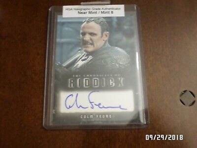 Autographed Signed Insert Card COLM FEORE - CHRONICLES OF RIDDICK