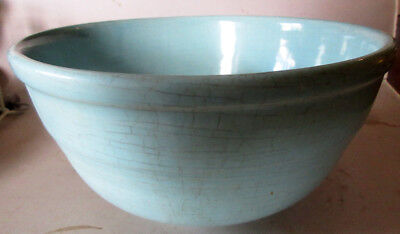 Vintage Ceramic Green Turquoise Pottery Mixing Bowl