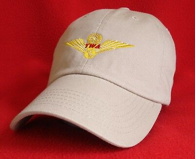 Trans World Airlines Pilot Wings Commemorative Khaki ball cap low-profile hat