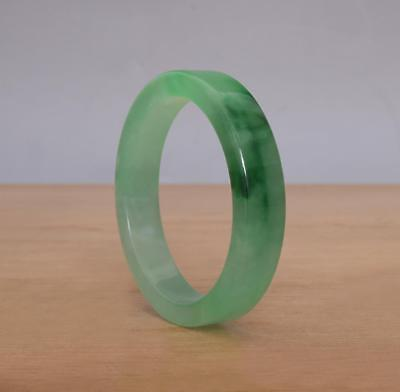 Good Chinese Natural Green Jadeite Jade Bangle Bracelet 56MM