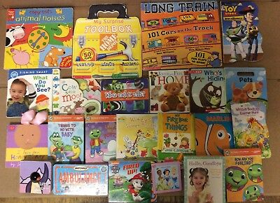 Lot of 22 Board Toddler Hardcover Picture DayCare Kid Child Books - UNSORTED K55