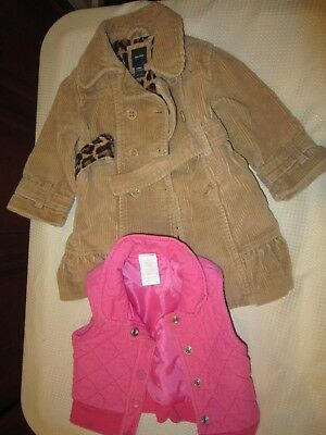 Girls Baby Gap Winter coat and vest sizes 18-24 months