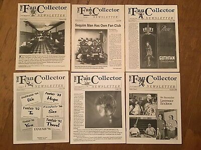 The FAN COLLECTOR NEWSLETTER Magazine ~ Complete 1996 Collection ~ Antique Fans