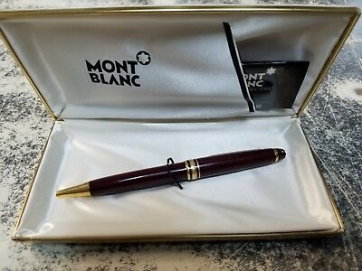 Mont Blanc Meisterstruck Pen And Case With Instruction Ball Point W. German
