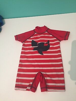 Next Baby Boys Swim All In One 9-12 Months UPF 50+ Fabric