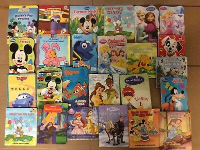 Lot of 25 Disney Board Toddler Hardcover Picture DayCare Child Book UNSORTED L44